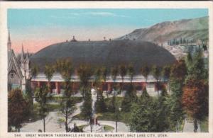 Utah Salt Lake City Great Mormon Tabernacle and Sea Gull Monument