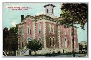 1915 Barton County Court House Great Bend Kansas Vintage Standard View Postcard