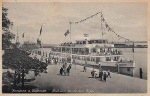 KONSTANZ Am Bodensee, Baden-Wurttemberg, Germany, 1900-1910's; Steamer at wharf