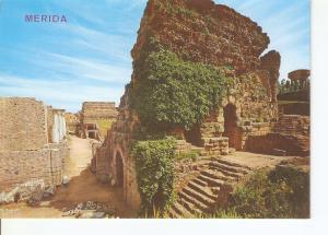 Postal 032380 : Merida. Teatro Romano. Puerta y murallas