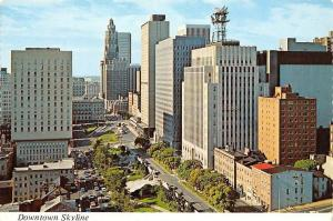 Maryland, Baltimore, Downtown Skyline, view along St. Paul Place, Mercy Hospital