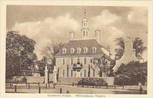 Virginia Williamsburg Govenors Palace Albertype