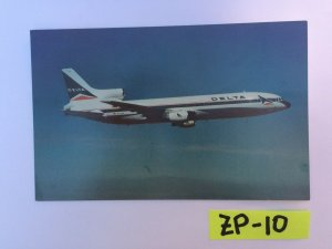 Delta Air Lines Lockheed L-1011 TriStar 302 passenger Vintage Postcard ZP-10