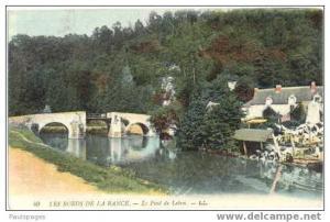 Les Bords De La Rance. Le Pont de Lebon.- L.L. France 1918 U.S. Army, Divided B