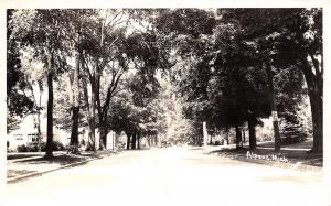 Alpena Michigan~Lots of Shade Trees, Both Sides of Street RPPC 1940s Cars
