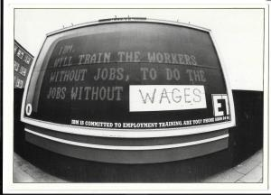 Protest Postcard, IBM Will Train the Workers... Without Wages, '80s, D Bocking
