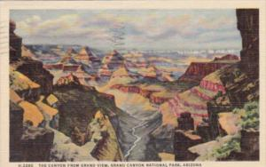 Fred Harvey The Canyon From Grand View Grand Canyon National Park Arizona 195...