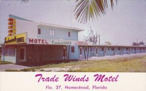 Florida Homestead Trade Winds Motel 1959