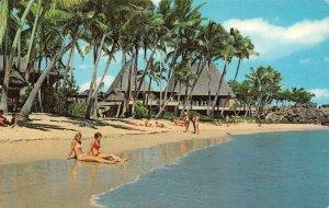 The Fijian YANUCA ISLAND RESORT Beach Fiji c1960s Vintage Postcard