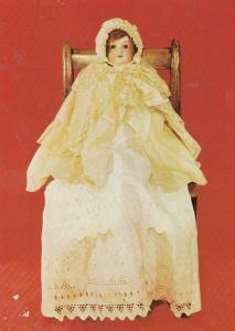 Toy Doll Dressed By Queen Victoria Dressmaker During WW1 Suffolk Postcard