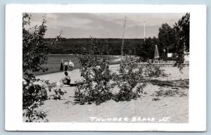 Postcard Canada Ontario Thunder Beach RPPC Real Photo M15