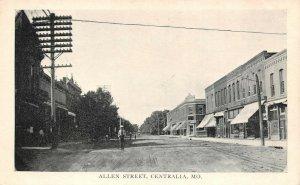 LPS57 Centralia Missouri Allen Street Town View Postcard