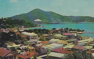 Rooftops view , St Thomas , US Virgin Islands, 40-60s