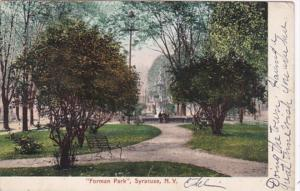 New York Syracuse Scene In Forman Park 1905