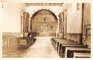 LPS33 San Francsico California Mission Dolores Interior View Postcard RPPC