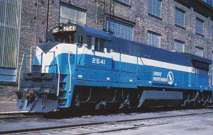 Great Northern Railway Locomotive Number 2541 U33C GE 1969 at St Paul Minnesota