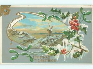 Divided-Back CHRISTMAS SCENE Great Postcard W9447