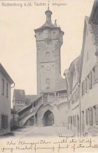 Klingentor, Rothenburg ob der Tauber, Bavaria, Germany, 1900-1910s