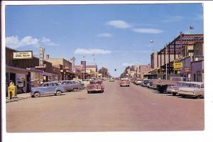 Downtown, Edson, Alberta, 40's 50's Cars