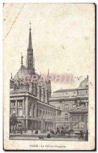 Old Postcard Paris Sainte Chapelle