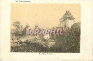 Old Postcard Caen Chateau de Caen