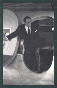 Nostalgia Postcard 1953 BBC Broadcaster Richard Dimbleby Reproduction Card NS46