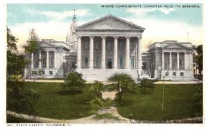 Virginia  Richmond , State Capitol , where Confedertate Congress held Sessions