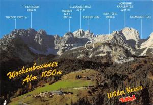 Wochenbrunner Alm Wilder Kaiser Tirol, Gruttenhuette Berg Leuchsturm Kopftoerl
