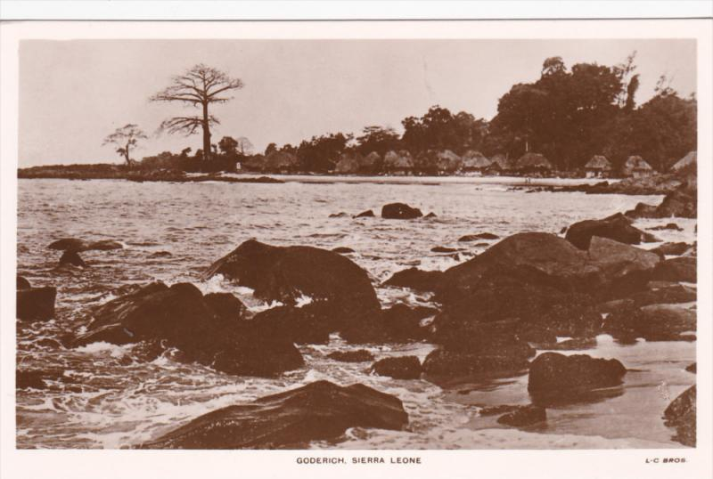 RP, Typical Native Village On The Coast, Black Rocks, Goderich, SIERRA LEONE,...
