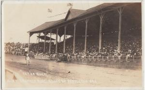 Oregon OR Postcard 20s PENDLETON Grandstand RPPC RODEO Round Up LETERBUCK DRUNK