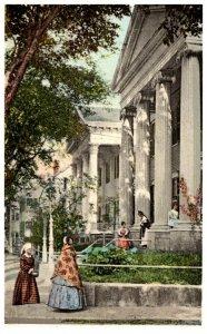 Massachusetts Nantucket , Colonial Dames on Main Street