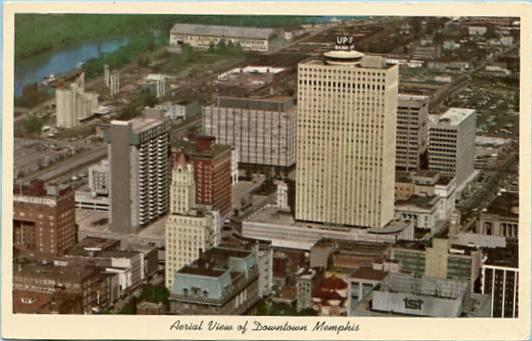 TN - Memphis, Aerial View, 1950's