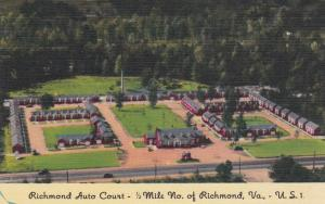 RICHMOND, Virginia, 1930-40s; Richmond Auto Court