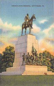 Virginia State Memorial Gettysburg, PA, USA Civil War Unused