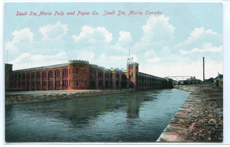 Sault Ste Marie Pulp & Paper Co Mill Ontario Canada 1910s