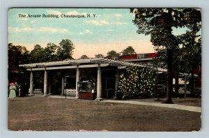 Chautauqua NY, The Arcade Building, New York Vintage Postcard
