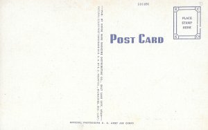 1940s US Linen, Natural Color Postcard, Writing Room, US Army Air Base, Utah