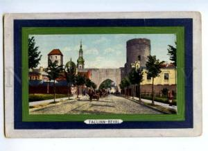 173474 ESTONIA TALLIN REVAL Vintage train post postcard