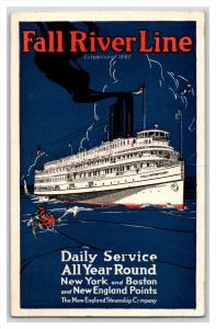 21029  Fall River Line Advertising card