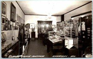 Hannibal, Missouri RPPC Real Photo Postcard MARK TWAIN MUSEUM Interior c1940s