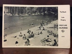 RPPC 1950s The Beach, Lake Gregory, Crestline, California by Frashers Z3