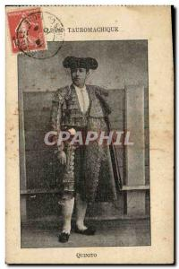 Old Postcard Bullfight Bullfight Quinito