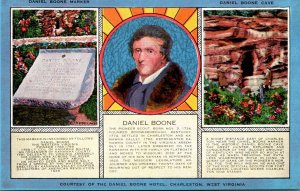 West Virginia Charleston Daniel Boone  Marker and Cave 1955