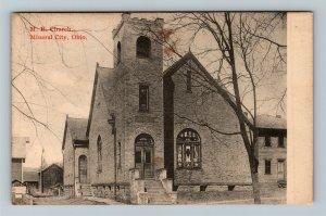 Mineral City OH, Methodist Episcopal Church, Vintage Ohio c1910 Postcard
