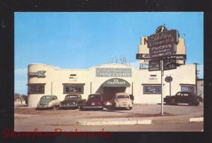 TULSA OKLAHOMA ROUTE 66 THE GOLDEN DRUMSTICK RESTAURANT 1950's CARS POSTCARD