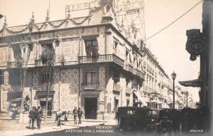 Madero Mexico Street Scene Real Photo Antique Postcard J79746