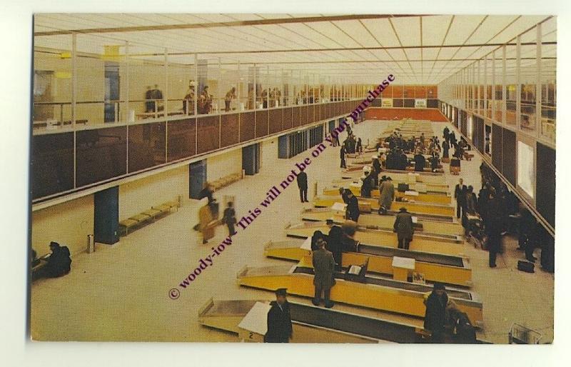 ac387 - New York International Airport , Customs - postcard