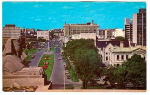 View from Legislative Building, Memorial Boulevard with Memorial Park, Winnip...
