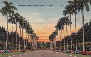 Florida Miami Entrance To Hialeah Park