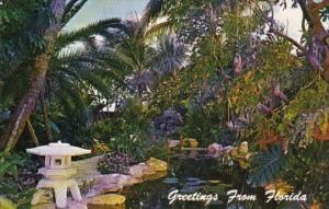 Florida Fort Lauderdale Flowering Gardens At Patrcia Murphy's Candlelight Res...